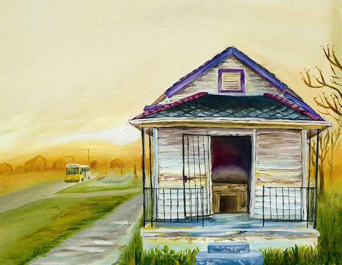 Home in the 9th painting of home in New Orleans