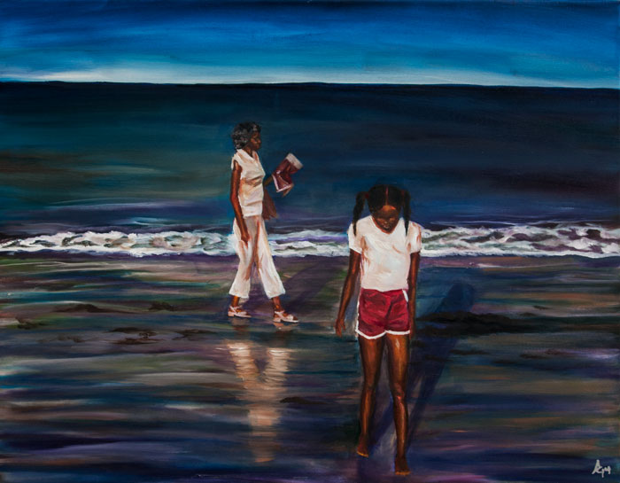 Sunset Beach painting by Anthony Cavins