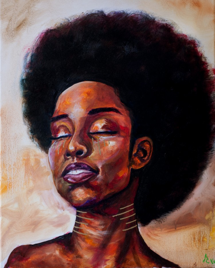 Glow Through oil painting by Anthony Cavins